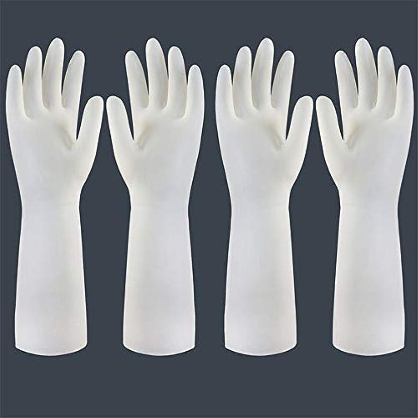 文天皇下着使い捨て手袋 使い捨て手袋の防水および耐久のゴム製台所手袋、小/中/大 ニトリルゴム手袋 (Color : Long-2 pair, Size : S)