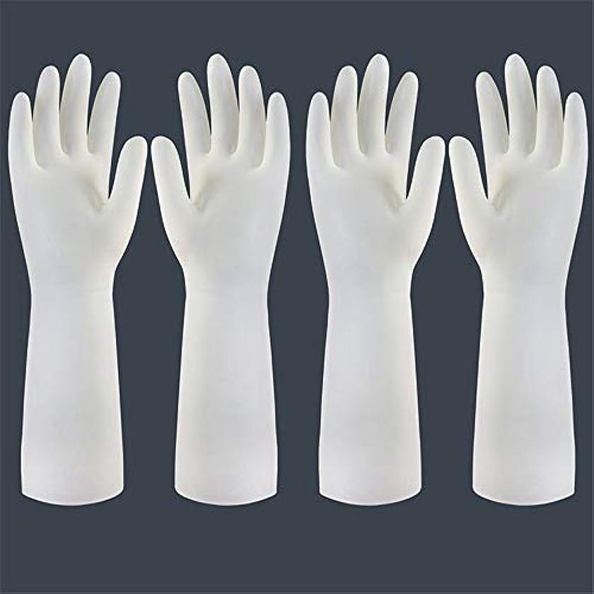 グレートオークぐったりドリンク使い捨て手袋 使い捨て手袋の防水および耐久のゴム製台所手袋、小/中/大 ニトリルゴム手袋 (Color : Long-2 pair, Size : S)