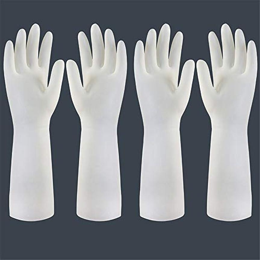 相対サイズ前提サイクル使い捨て手袋 使い捨て手袋の防水および耐久のゴム製台所手袋、小/中/大 ニトリルゴム手袋 (Color : Long-2 pair, Size : S)
