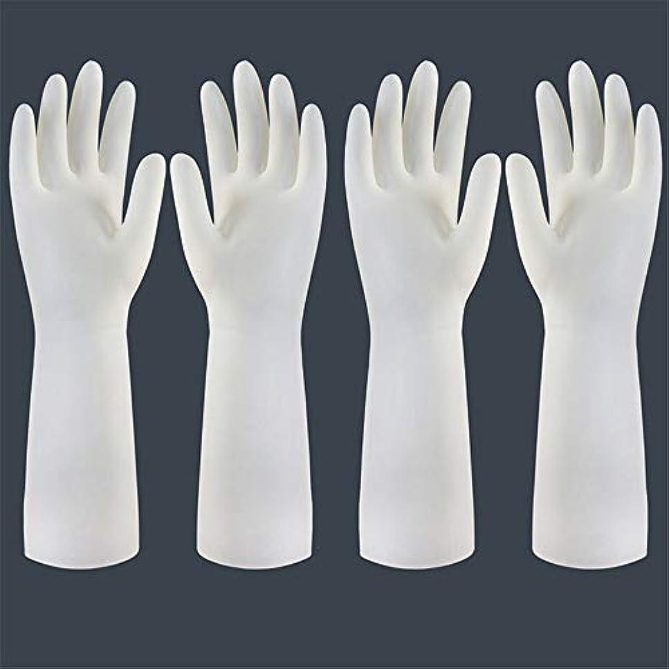 インターネット放牧する受動的使い捨て手袋 使い捨て手袋の防水および耐久のゴム製台所手袋、小/中/大 ニトリルゴム手袋 (Color : Long-2 pair, Size : S)