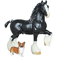 Breyer Traditional Shire Stallion & Corgi Dog (1:12 Scale)