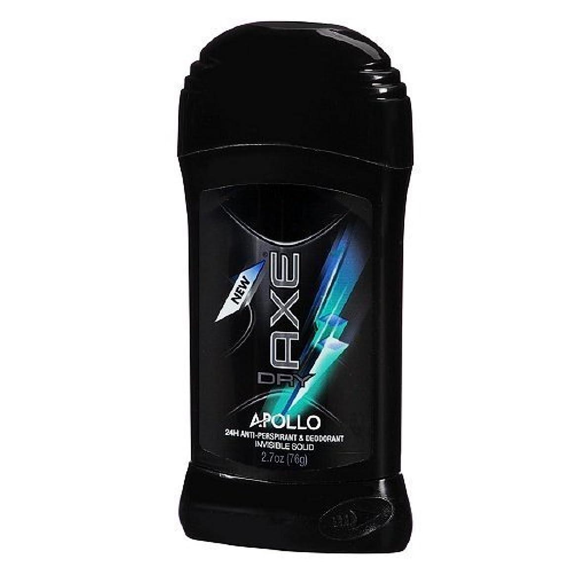 時代乱れ準備したAxe Dry Antiperspirant Deodorant - Apollo - Invisible Solid - Net Wt. 2.7 OZ Each - Pack of 3 by Unilever [並行輸入品]