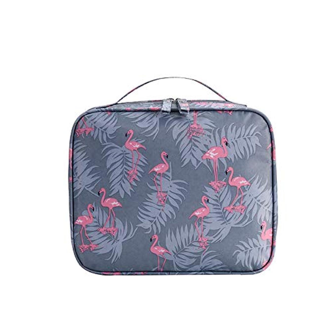 不格好意志投票Tyoo 化粧ポーチ トラベルポーチ 小物 収納 バッグインバッグ 出張 海外 旅行グッズ 縄を引く (フラミンゴ)