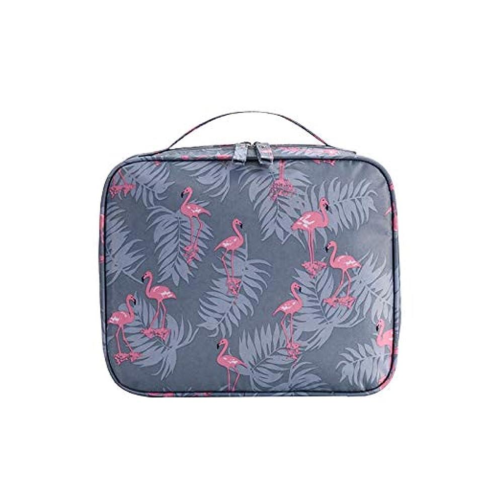 猛烈な永久付属品Tyoo 化粧ポーチ トラベルポーチ 小物 収納 バッグインバッグ 出張 海外 旅行グッズ 縄を引く (フラミンゴ)