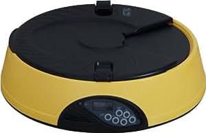 ottostyle.jp 【音声録音機能、タイマー付き】 自動給餌器 オートペットフィーダー 自動えさやり ※わかりやすい日本語取扱説明書付き (最大6回分のエサを自動給餌、約7秒の音声を録音)