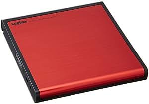 Logitec ポータブルDVDドライブ ネイティブドライブ採用 書込みソフト付属 アルミデザイン 【Surface Pro3対応】 レッド LDR-PMH8U2LRD