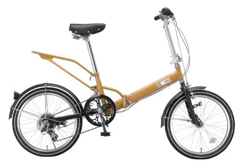 Raychell(レイチェル) 20インチ 折りたたみ自転車 VO-206R  シマノ6段変速 リアキャリア付 キャメル [メーカー保証1年]