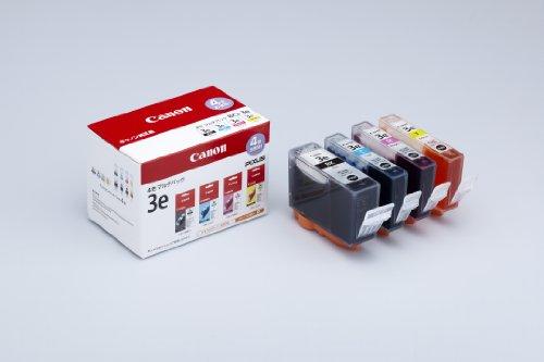 Canon 純正インクカートリッジ BCI-3e(BK/C/M/Y) 4色マルチパック BCI-3E/4MP