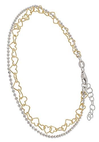 [해외]신주쿠 실버 창고 하트 × 볼 체인 골드 컬러 925 발목 인기 여성 심플 멋쟁이 귀여운 겹쳐서 표시/Shinjuku silver warehouse Heart × ball chain gold color silver 925 anklet popular ladies simple simple fashionable cute superimposition