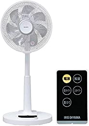アイリスオーヤマ 扇風機 7枚羽 ソフト気流 首振り 風量4段階 靜音 DCモーター タイマー付 リモコン付 換気 リビング扇 ホワイト LFD-306L