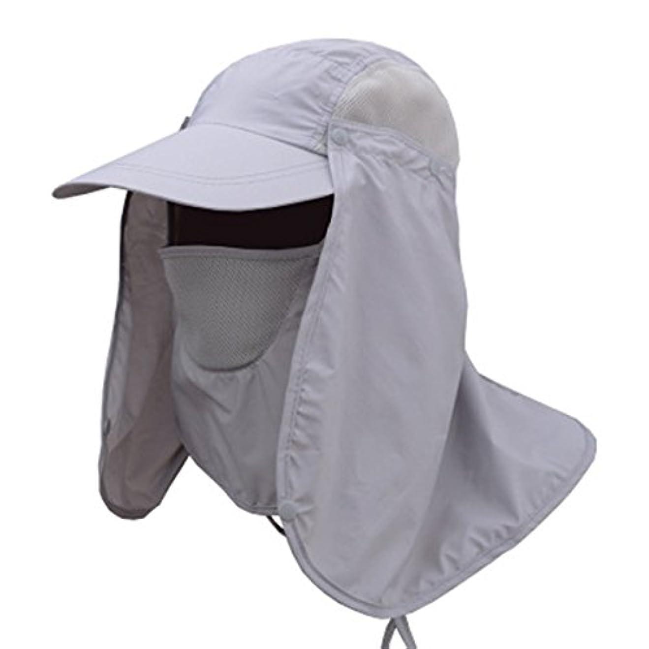 非互換動揺させる手を差し伸べるenkrioユニセックス釣り帽子フラップ帽子UPF 50 + 360度ソーラー保護サンキャップ取り外し可能なネック面用フラップカバーキャップアウトドアアクティビティforメンズレディース