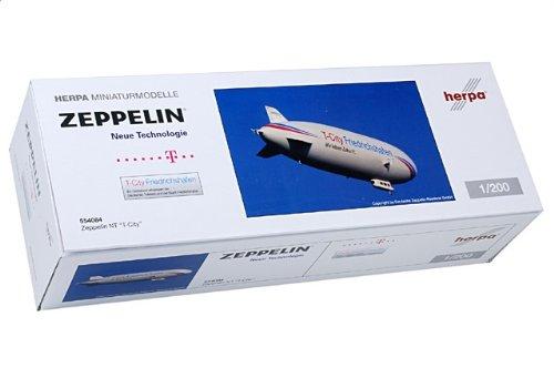 """1:200 ヘルパ ウィングス 554084 Zeppelin Zeppelin NT ディスプレイ モデル ZLT, D-LZZF """"T-City Friedrichshafen"""", ドイツ 201"""