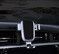 Bwen トヨタ カムリ 携帯電話ホルダー 重力式クランプ 車 通気口 マウント ホルダー クレードル 対応機種: 2018 カラミー トヨタ iPhone サムスン Galaxy LG すべてのスマートフォン 4インチから5.5インチ カーボンファイバーパターン シルバー sj-Camry-W