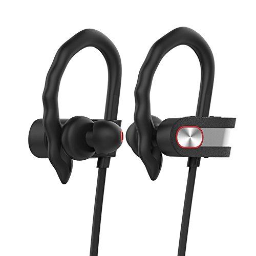 Jeemak Bluetooth4.1 ワイヤレス イヤホン ヘッドセット マイク内蔵 CVC6.0 ノイズキャンセリング IPX7防水/防汗/軽量 高音質 iPhone/Android対応【日本国内12ケ月保証】 …