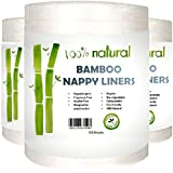 100% Bamboo Nappy Liner - Suit All Modern Cloth Nappies (10 Rolls (1,000 Sheets))