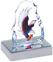 Gifts & Decor Bald Eagle Crystal Figurine Sculpture with LED L