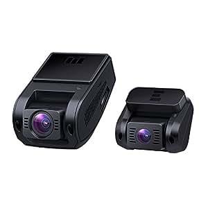 AUKEY ドライブレコーダー 前後カメラ 車載カメラ 1080P FHD Gセンサー搭載 WDR LED信号対策済み ループ録画 動き検知 緊急録画 タイムラプス 2年保証 隠れ式 DR02D