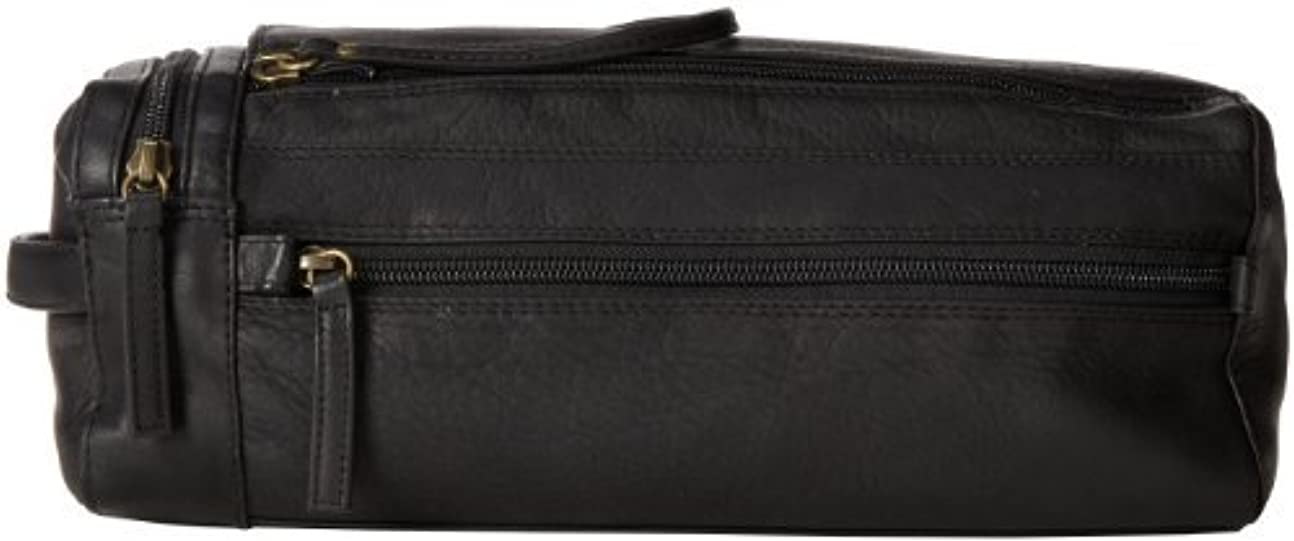 キャラバン殺人実質的にDerek Alexander Twin Top Zip Shave Kit Black One Size [並行輸入品]