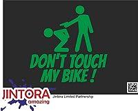 JINTORA ステッカー/カーステッカー - Don't touch my bike! - 私の自転車に触れないでください! - 99x99 mm - JDM/Die cut - 車/ウィンドウ/ラップトップ/ウィンドウ - 緑色