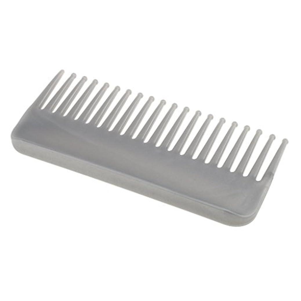 ええ所得動くプラスチック製の絡みのない広い歯のヘアブラシサロンヘアケアマッサージツール