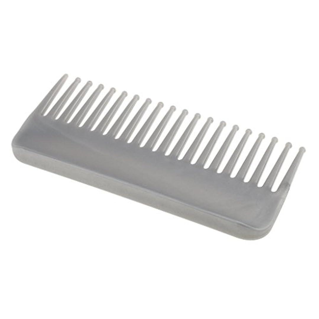 左見出し不道徳CUTICATE プラスチック製の絡みのない広い歯のヘアブラシサロンヘアケアマッサージツール