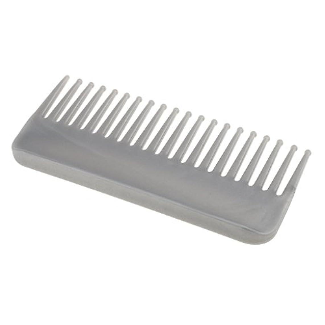 フレッシュ昼食実現可能CUTICATE プラスチック製の絡みのない広い歯のヘアブラシサロンヘアケアマッサージツール