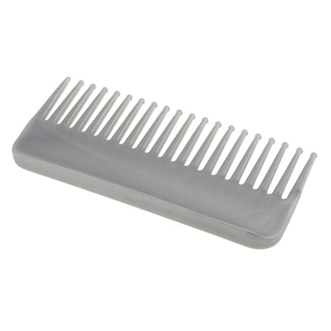 レビュアー信条最もプラスチック製の絡みのない広い歯のヘアブラシサロンヘアケアマッサージツール