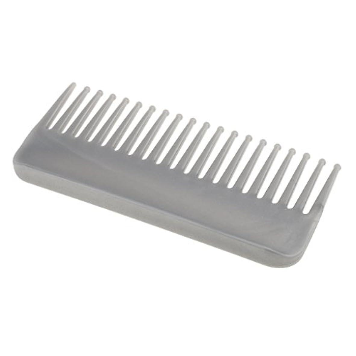 稚魚コードレス項目プラスチック製の絡みのない広い歯のヘアブラシサロンヘアケアマッサージツール