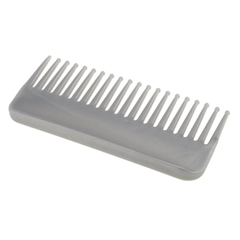 研究腕投資プラスチック製の絡みのない広い歯のヘアブラシサロンヘアケアマッサージツール