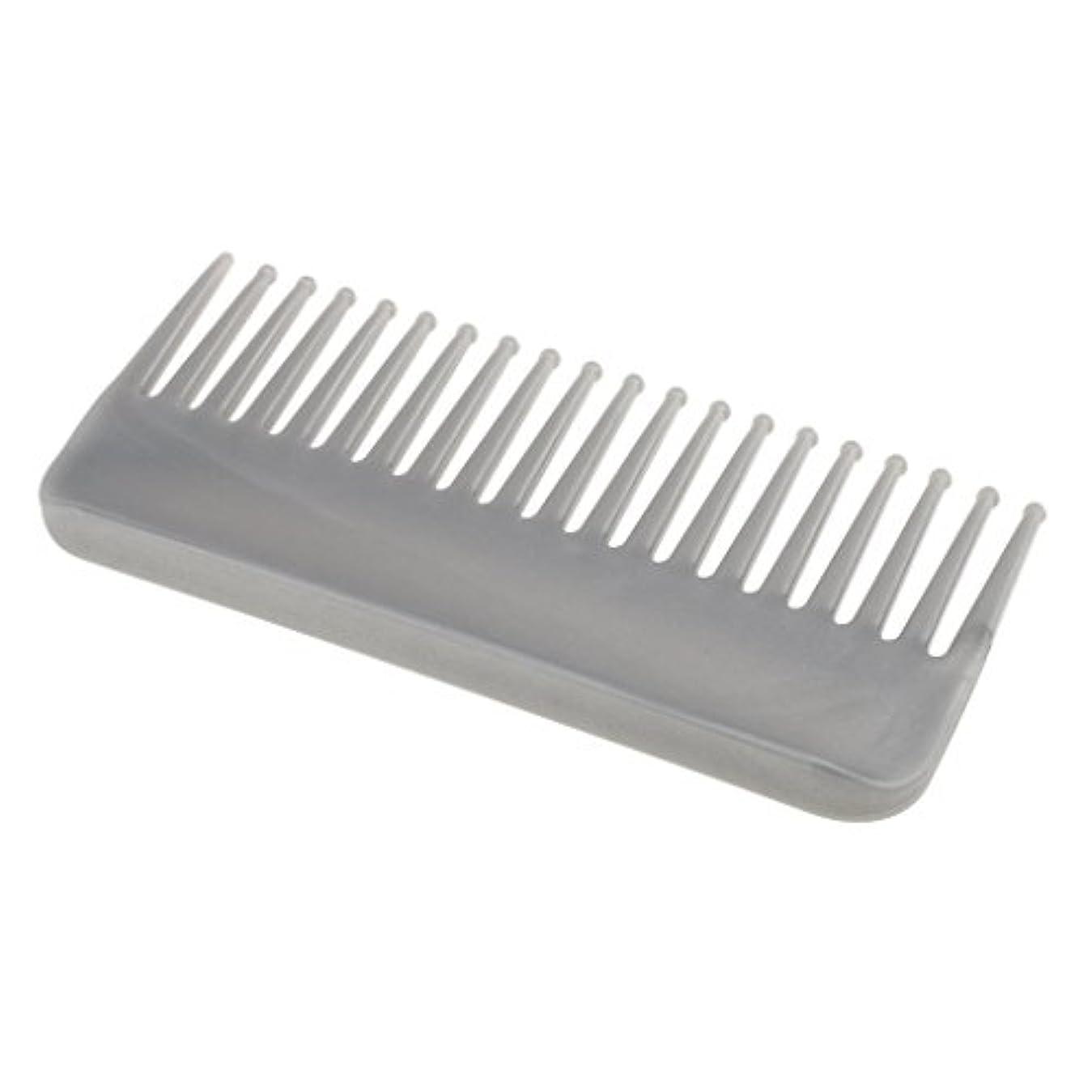 大使館鎮静剤ぼろCUTICATE プラスチック製の絡みのない広い歯のヘアブラシサロンヘアケアマッサージツール