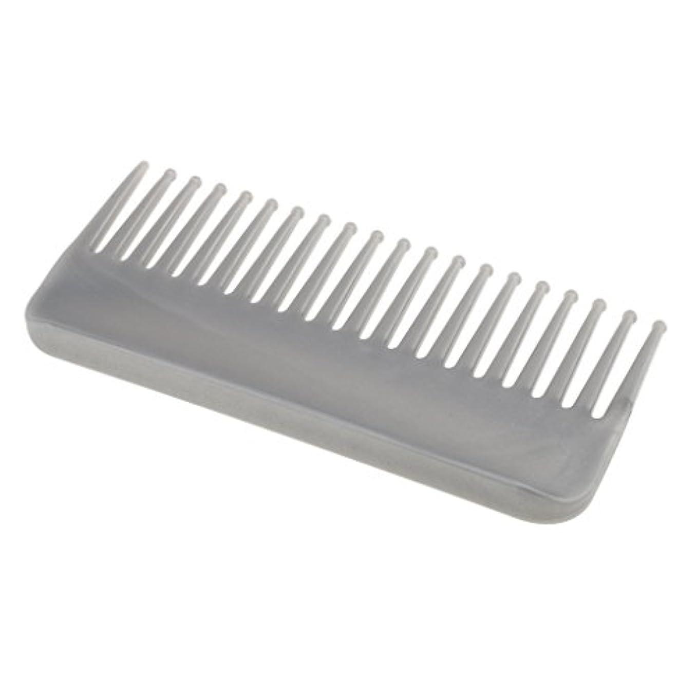 壊れた見物人インセンティブCUTICATE プラスチック製の絡みのない広い歯のヘアブラシサロンヘアケアマッサージツール