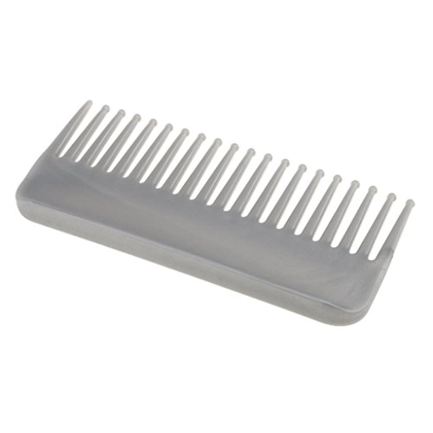 ネコ野な無力プラスチック製の絡みのない広い歯のヘアブラシサロンヘアケアマッサージツール