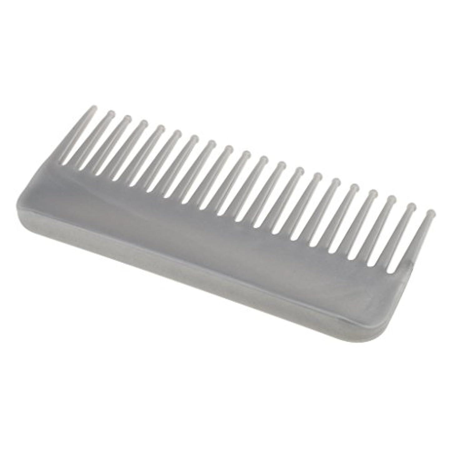 ベーカリーうぬぼれ毎年プラスチック製の絡みのない広い歯のヘアブラシサロンヘアケアマッサージツール