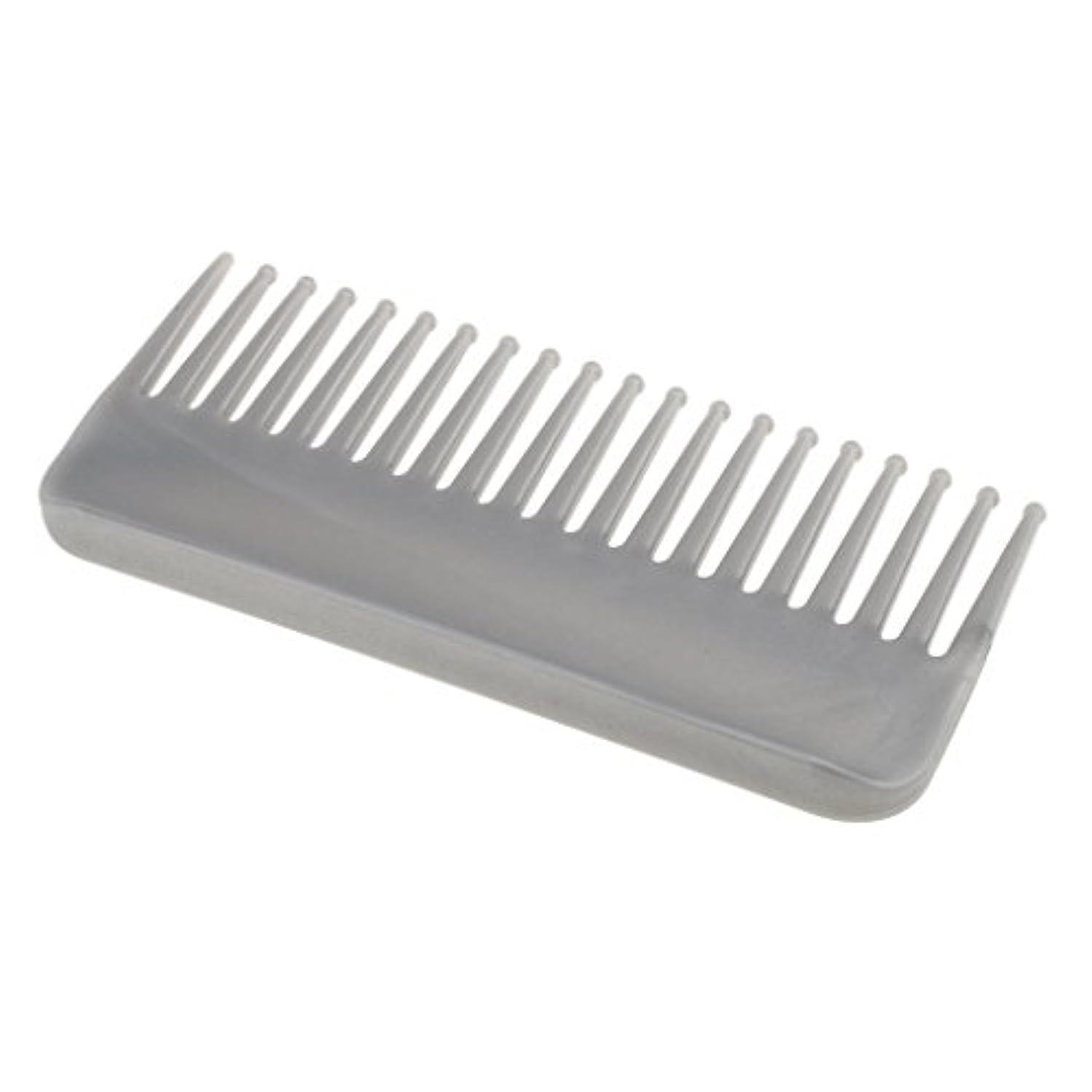 三番報復するペットプラスチック製の絡みのない広い歯のヘアブラシサロンヘアケアマッサージツール