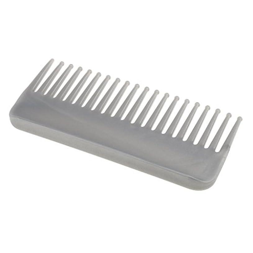 公歌詞関係するCUTICATE プラスチック製の絡みのない広い歯のヘアブラシサロンヘアケアマッサージツール