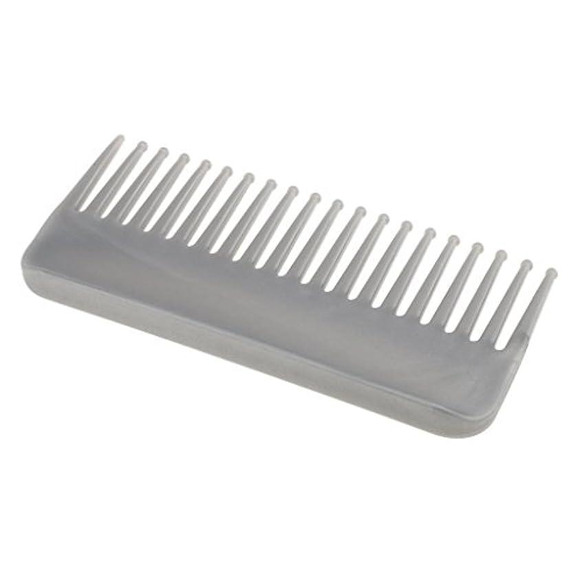 泥棒地下CUTICATE プラスチック製の絡みのない広い歯のヘアブラシサロンヘアケアマッサージツール