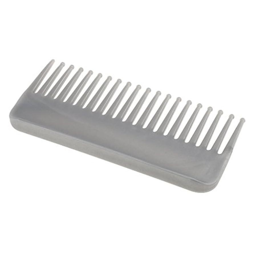 ワーカー流行去るプラスチック製の絡みのない広い歯のヘアブラシサロンヘアケアマッサージツール
