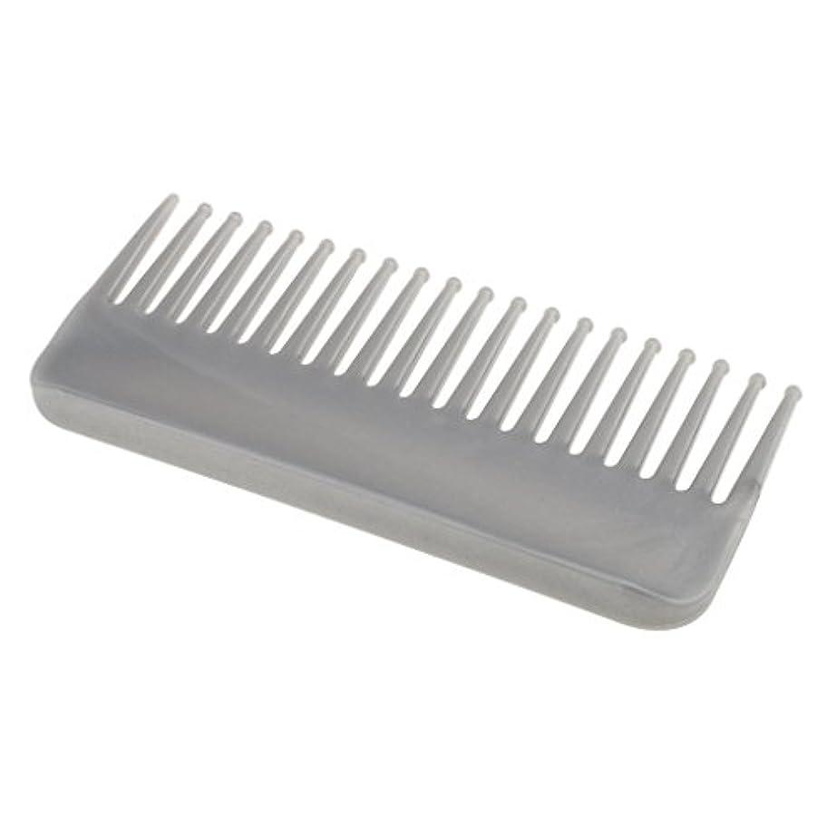 主要なロケーションメールプラスチック製の絡みのない広い歯のヘアブラシサロンヘアケアマッサージツール