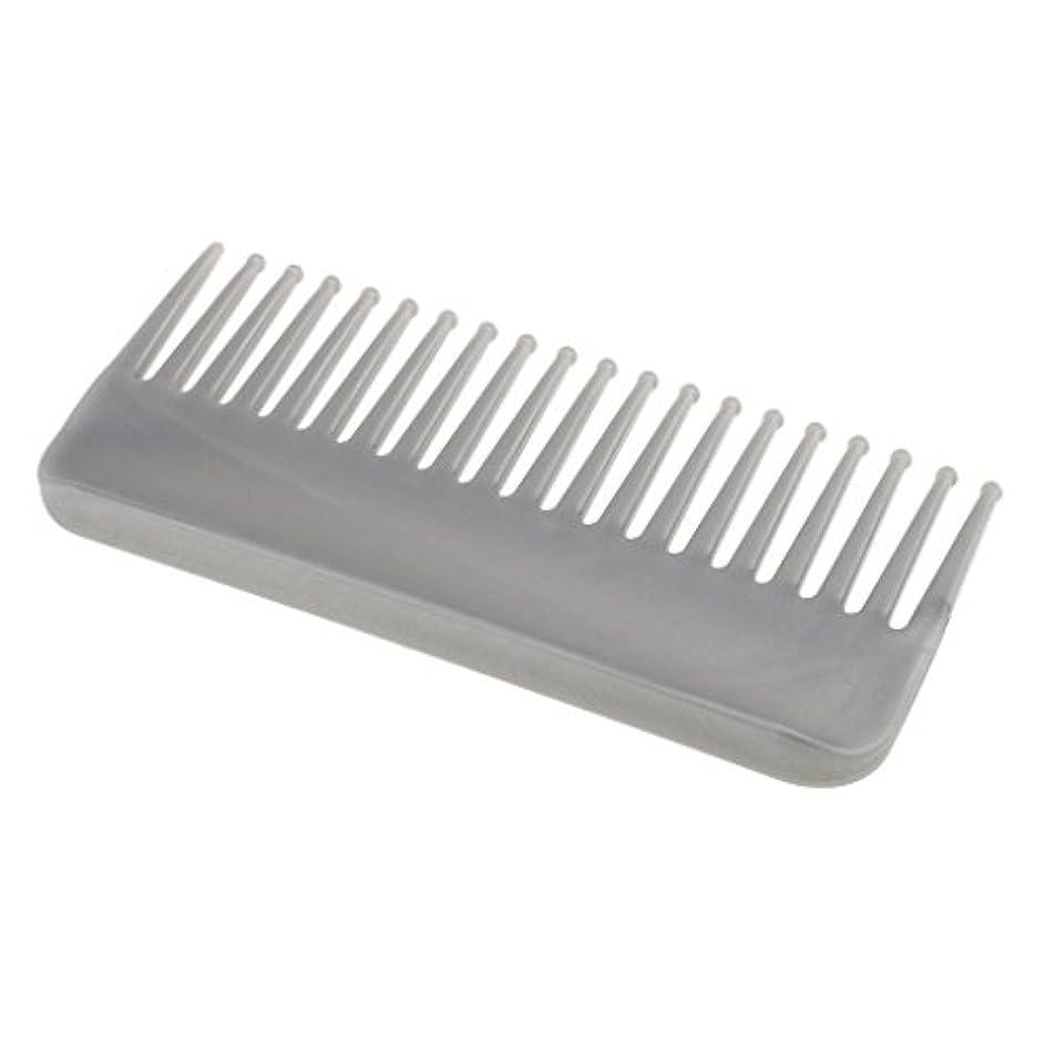 兵隊もちろん常習者プラスチック製の絡みのない広い歯のヘアブラシサロンヘアケアマッサージツール