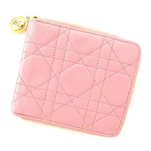 ディオール Dior 二つ折り 財布 ラウンドファスナー レディース レディディオール 中古 T7777