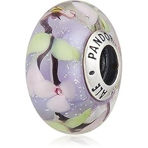 [パンドラ] PANDORA Enchanted Garden Glass チャーム (シルバー ムラノガラス) 正規輸入品 797014