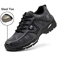 Safety Shoes, Steel Toe Cap Trainers Lightweight Mens Womens Safety Shoes Work Midsole Protection,7.5