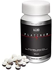 ULBO PLATINUM シトルリン アルギニン 亜鉛 全8種類配合 180粒 栄養機能性食品