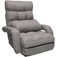 UNE BONNE(ウネボネ) ソファー ソファーベッド 合皮 折り畳み 座椅子 シングル 無段階リクライニング フロアソファ 低反発 折りたたみ コンパクト 一人掛け リクライニングチェア 可愛い 一人暮らし グレー