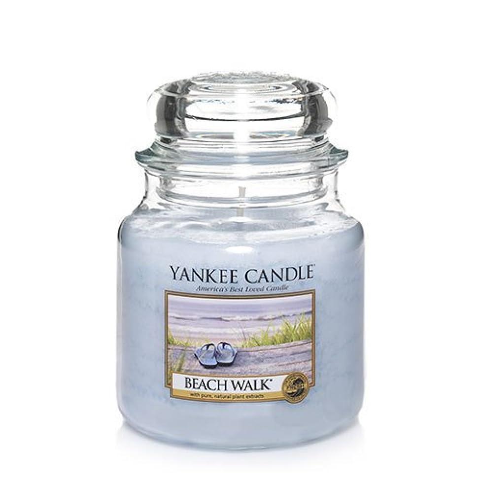 間違い音声地雷原Yankee CandleビーチウォークMedium Jar Candle、新鮮な香り