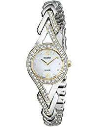 [セイコー]Seiko 腕時計 Swarovski CrystalAccented Stainless Steel TwoTone Solar Watch SUP174 レディース [並行輸入品]