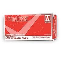 GLOVE LATEX EXAM P/F MEDIUM (BX) by Primaguard
