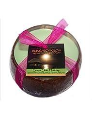 【正規輸入品】 バブルシャック?ハワイ Bubble shack Coconut Shell candle ココナッツシェルキャンドル grass skirt holiday グラススカートホリデイ 500g