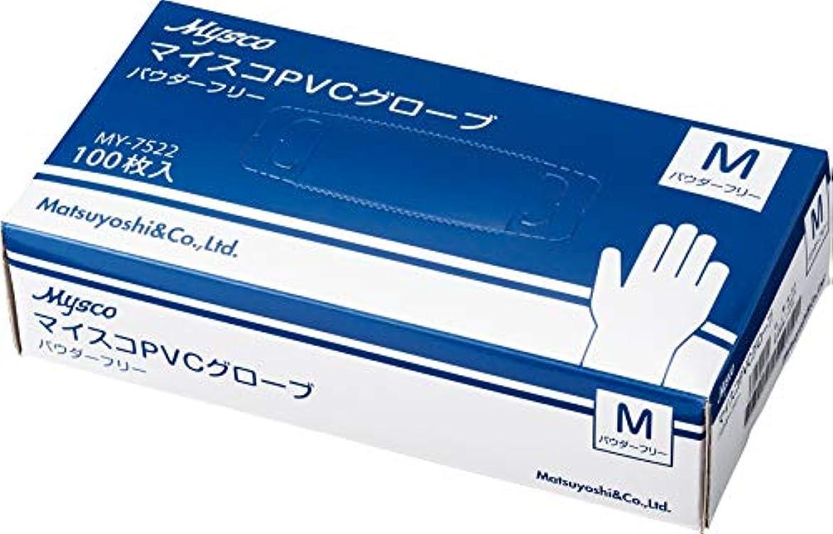 使い捨て手袋 マイスコPVCグローブ M 40箱セット (4000枚) 粉なし