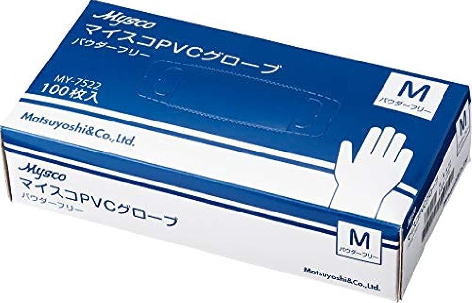 シンポジウム状郵便屋さん使い捨て手袋 マイスコPVCグローブ M 40箱セット (4000枚) 粉なし